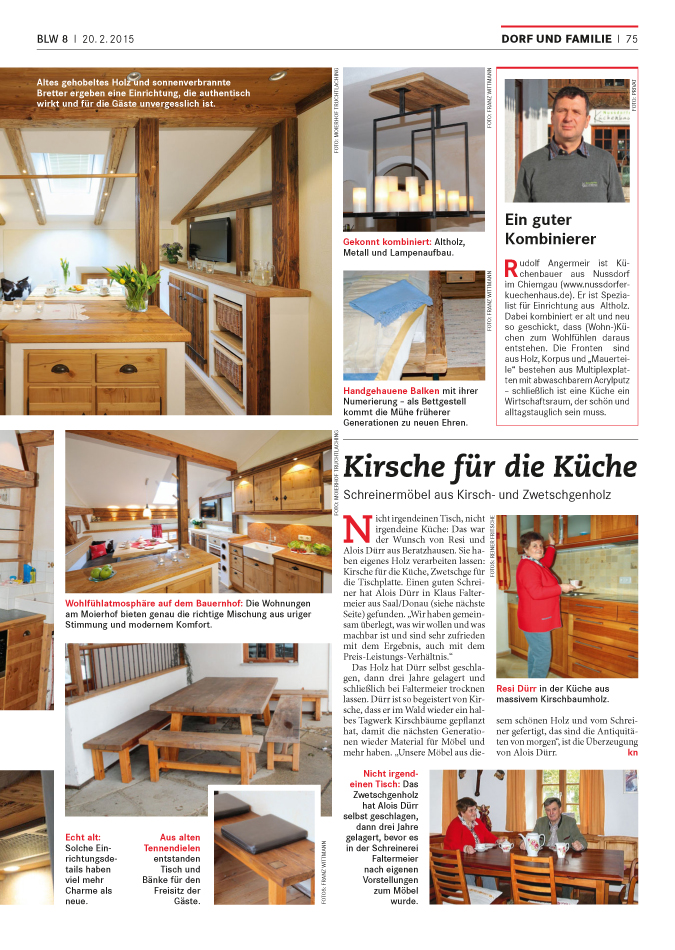 Bayerisches Landwirtschaftliches Wochenblatt Altholzkuechen